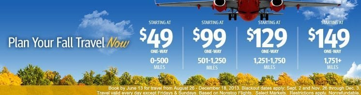 Southwest Fare Sale & Southwest 50,000 Point Cards are Back! (EXPIRED)