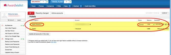 Your Loyalty Account Is Now In Award Wallet And You Can View Your Award Account Balances