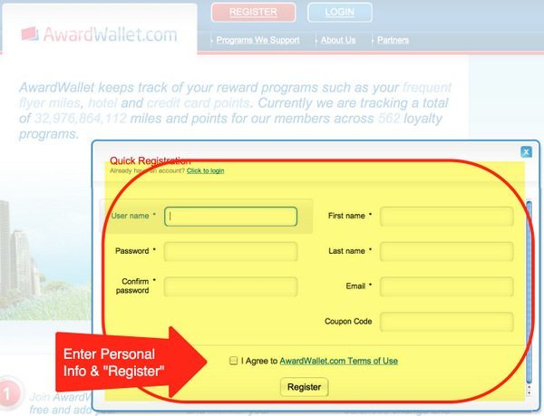 Next Enter Your Personal Information And Click Register