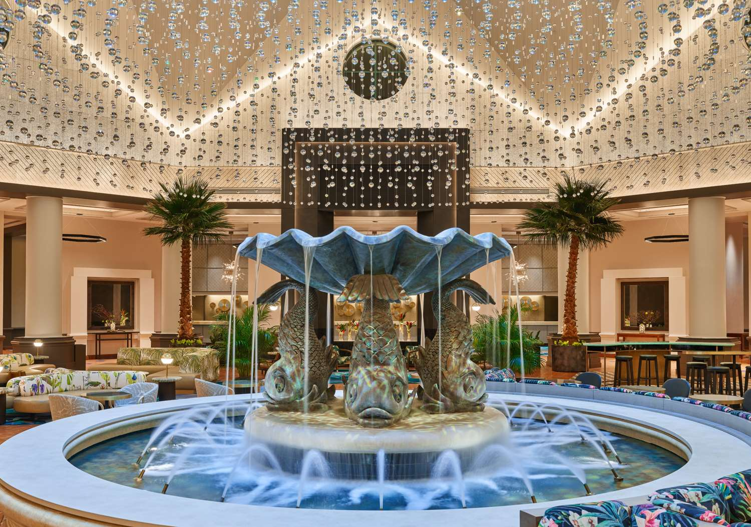 The Disney World Dolphin Resort is Finishing Up a Full Renovation of Lobby and Common Areas