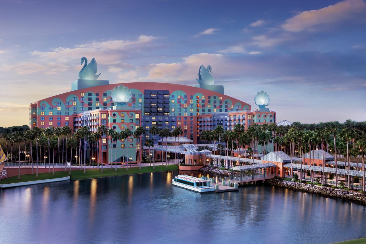 Disney World Swan Resort Is Conveniently Located Next to Friendship Boats and the Beautiful Boardwalk Trails