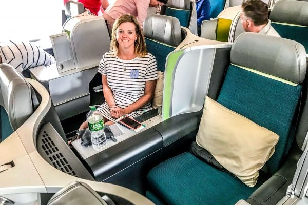 Flying to Europe in Comfort:  Aer Lingus Business Class Review