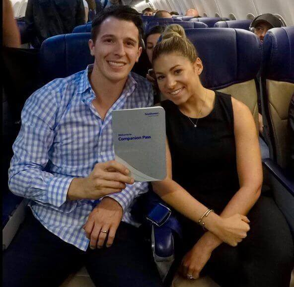 Keith and his wife using the Southwest Companion Pass that they earned with credit card points