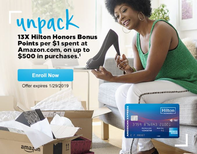 Hilton American Express Spending Offer – Earn Up to 6,500 Hilton Points at Amazon! (Targeted)