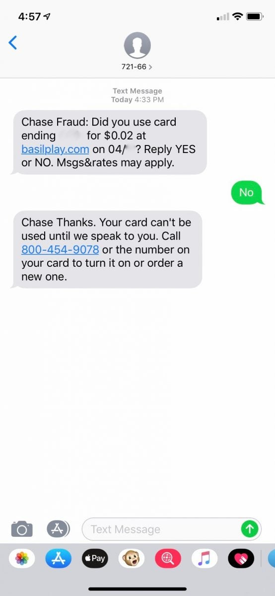 Chase Fraud Protection Text Alerts | Million Mile Secrets