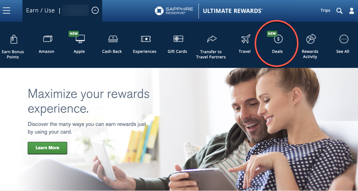 """There's a New """"Deals"""" Tab On the Chase Ultimate Rewards Site, Making It Easier to Find Shopping Portal Bonuses!"""