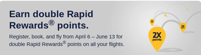 Earn Double Points On Southwest Flights