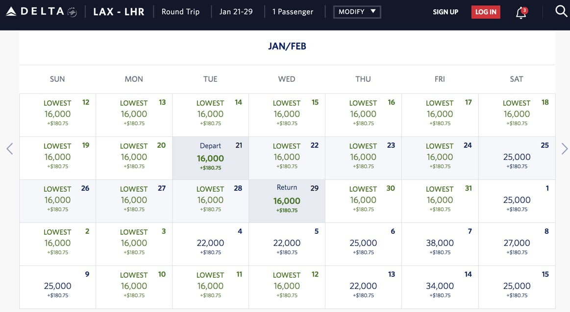 Incredible Delta deal: 16,000-mile round-trip flights to Europe (including the West Coast), 30,000 miles to Japan