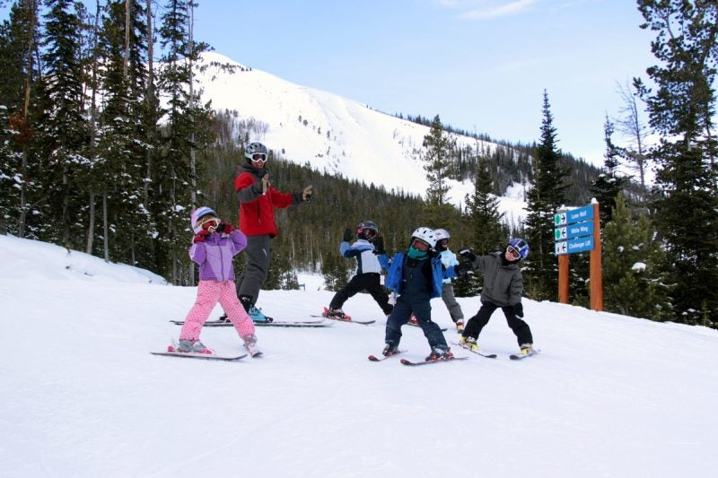 Big Sky is Great for Families Because Kids Under 10 Ski Free.