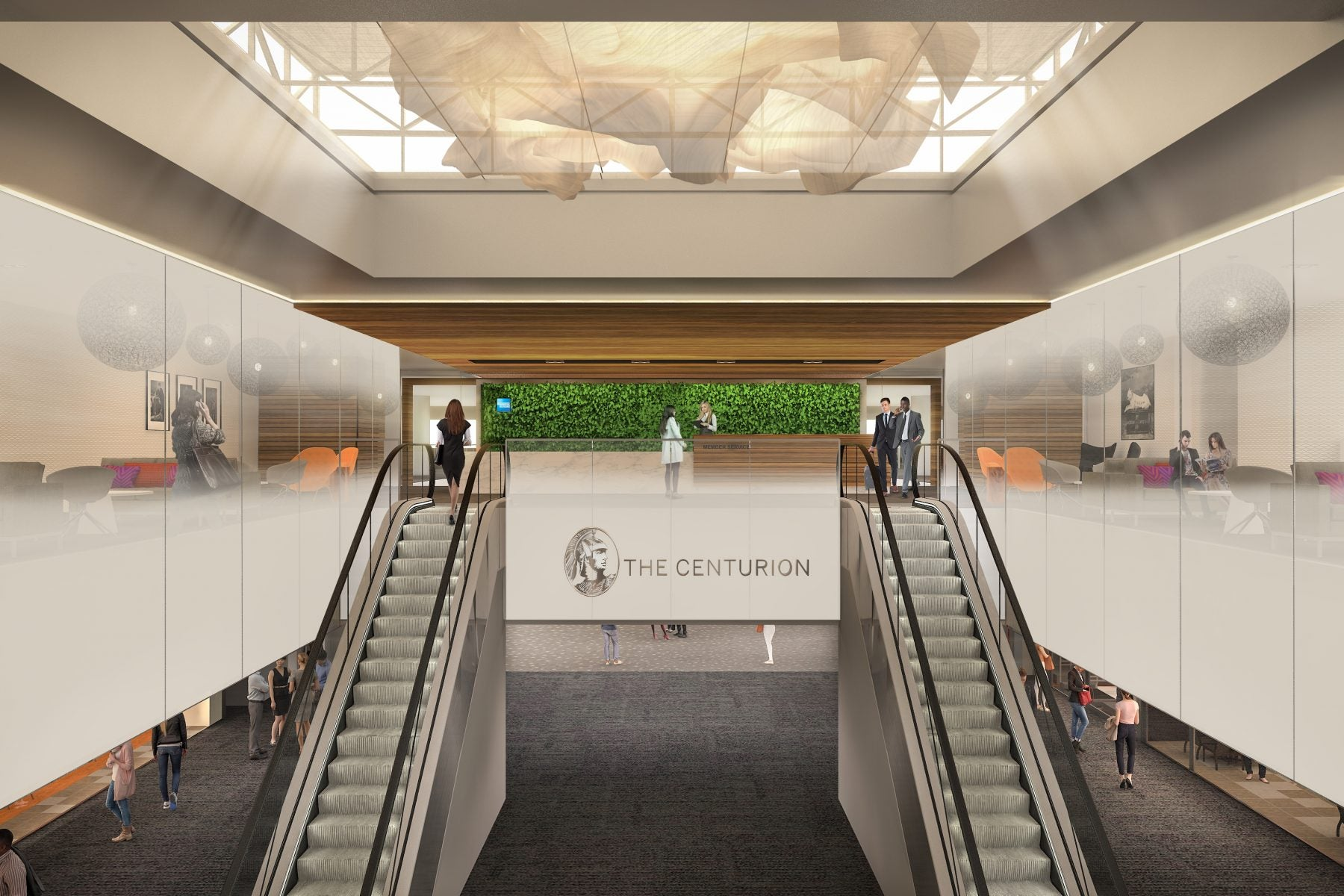 A Rendering of the Upcoming Denver Centurion Lounge. American Express Centurion Lounges are our Favorite Lounges to Relax at While Waiting for an Upcoming Flight.
