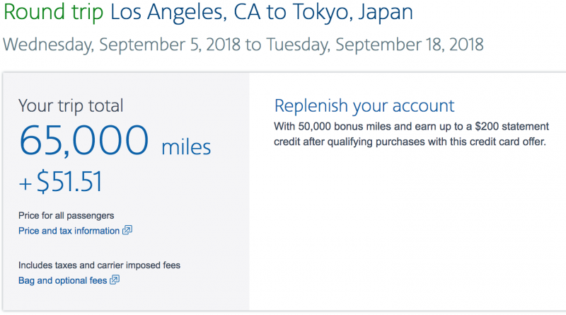 Success! A Round Trip Flight to Tokyo for Just ~$50 + 1 Credit Card