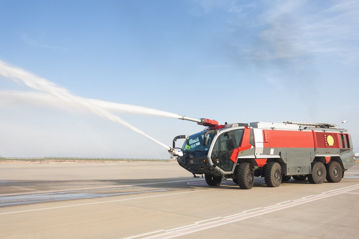 This Water Cannon Salute Didn't Go as Planned (Video)