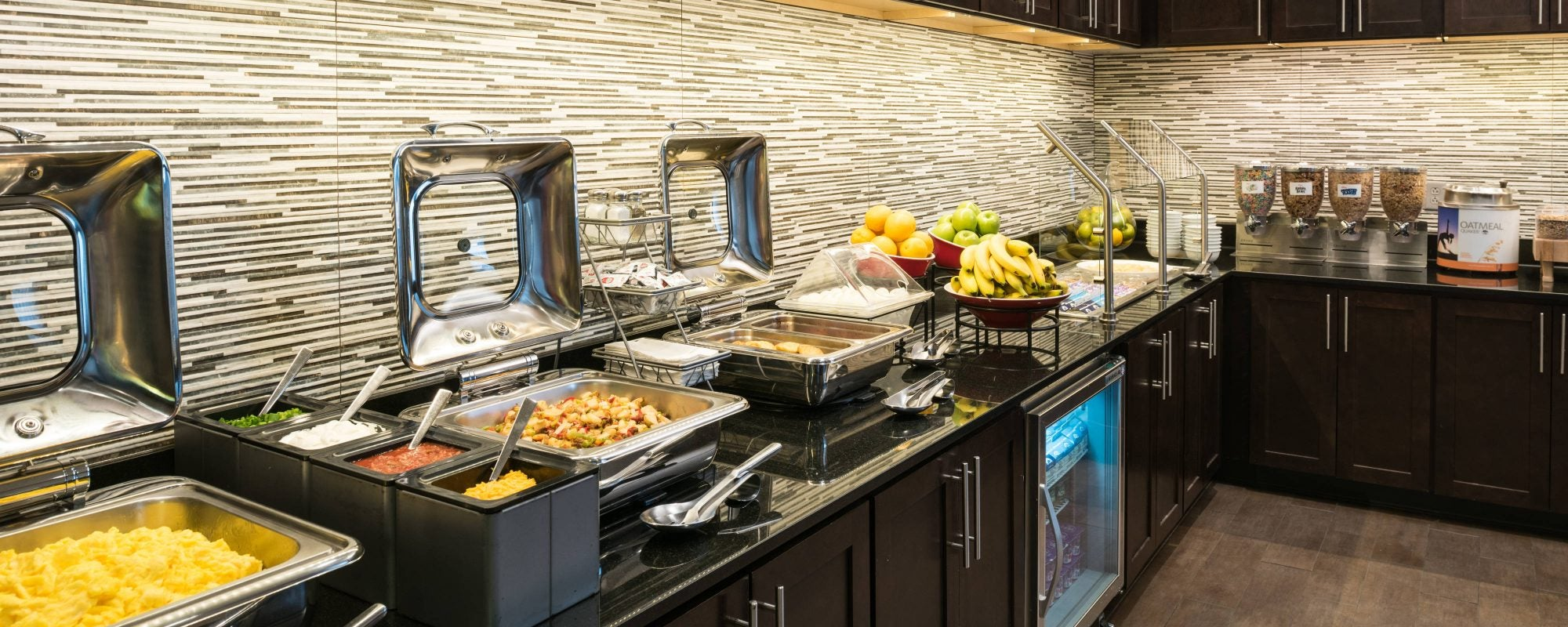 Residence Inn Offers An Exceptional Breakfast For All Guests. Many Selections of Food From Warm to Cold and Sweet to Salty