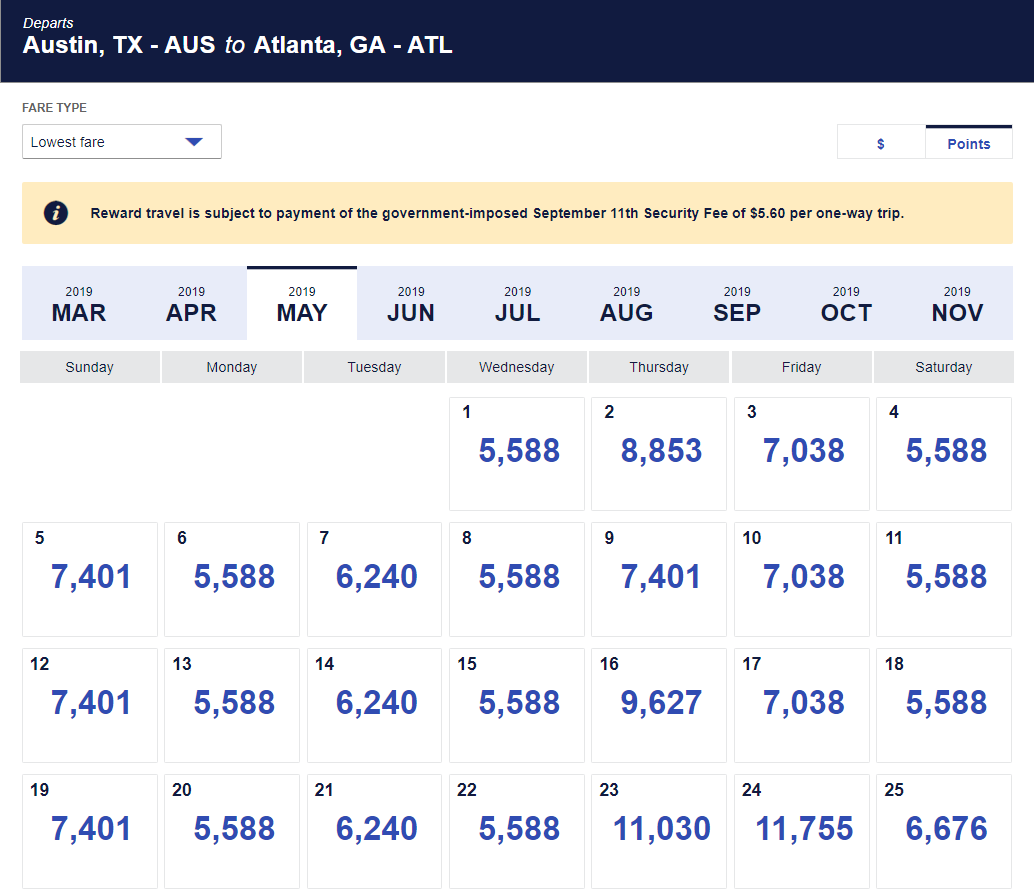 Southwest Has Super Low Fares Between Austin And Atlanta Right Now