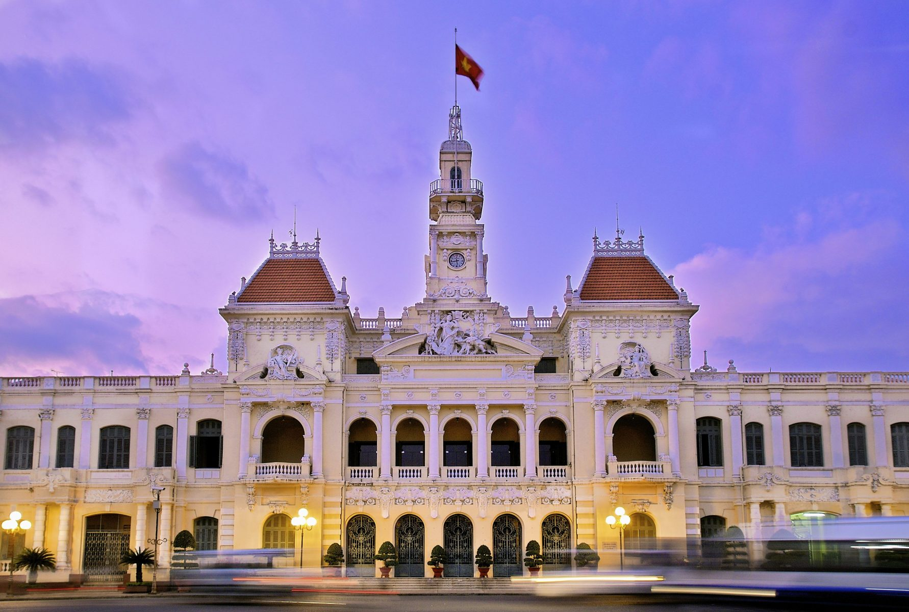 Nope, This Isn't Varsailles in France, it is City Hall in Ho Chi Minh, Vietnam. French Architecture is Prolific Here due to the French Occupation of Saigon (now Ho Chi Minh City) up Until 1955.