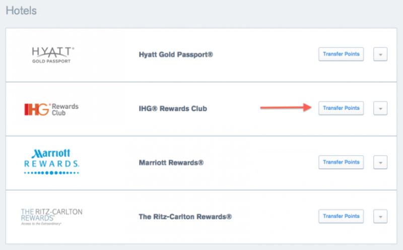Chase Ultimate Rewards Lets You Transfer Points in 1,000 Point Increments to IHG Which Extends the Expiration of all Your IHG Points by Another 12 Months