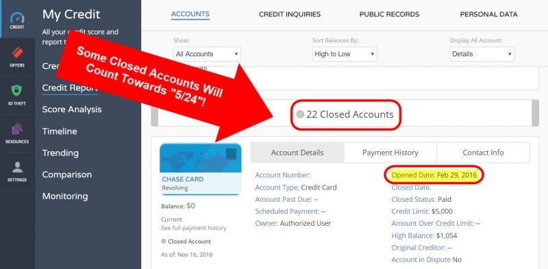 Count How Many Open Credit Cards | Million Mile Secrets