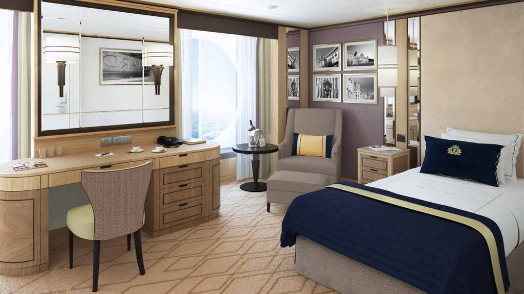 Rendering of Queen Mary solo cabin