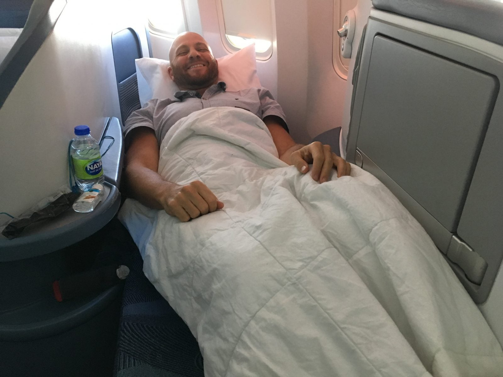 I Flew in Business Class bed to Europe using Chase points from my Chase Sapphire Preferred credit card
