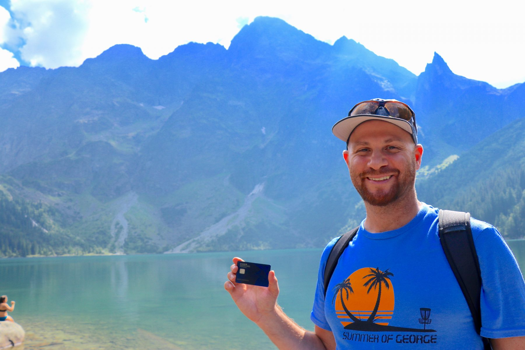 Scott using his Chase Sapphire Preferred credit card points to hike the beautiful mountains and lakes of Poland