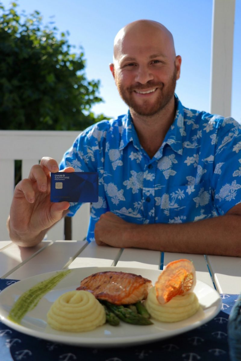Chase Sapphire Preferred is the best credit cards for when you're new to using miles and points for travel. Here I am using it to pay for my delicious seafood restaurant meal