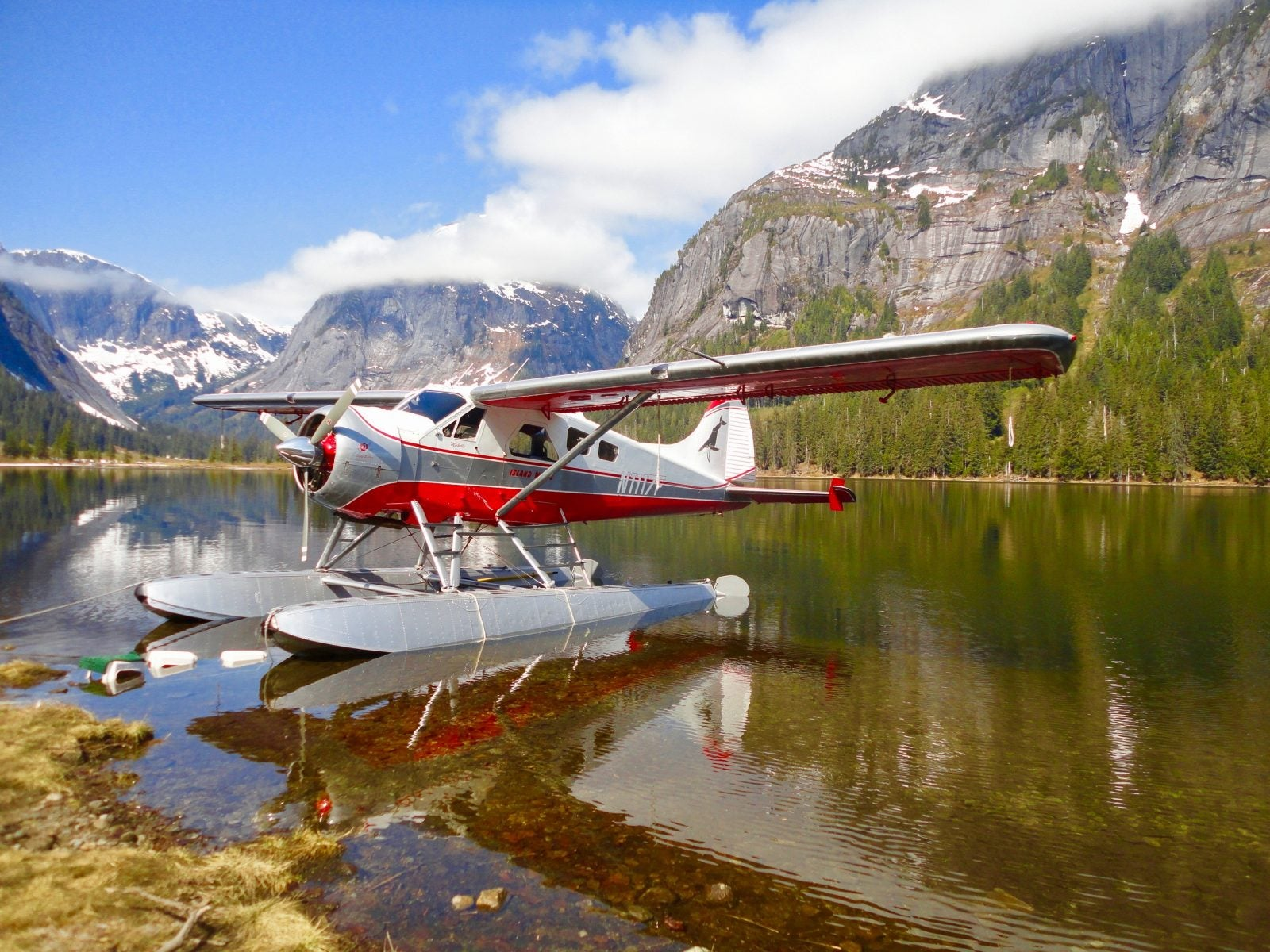 Seaplane landed at Misty Fjords National Monument