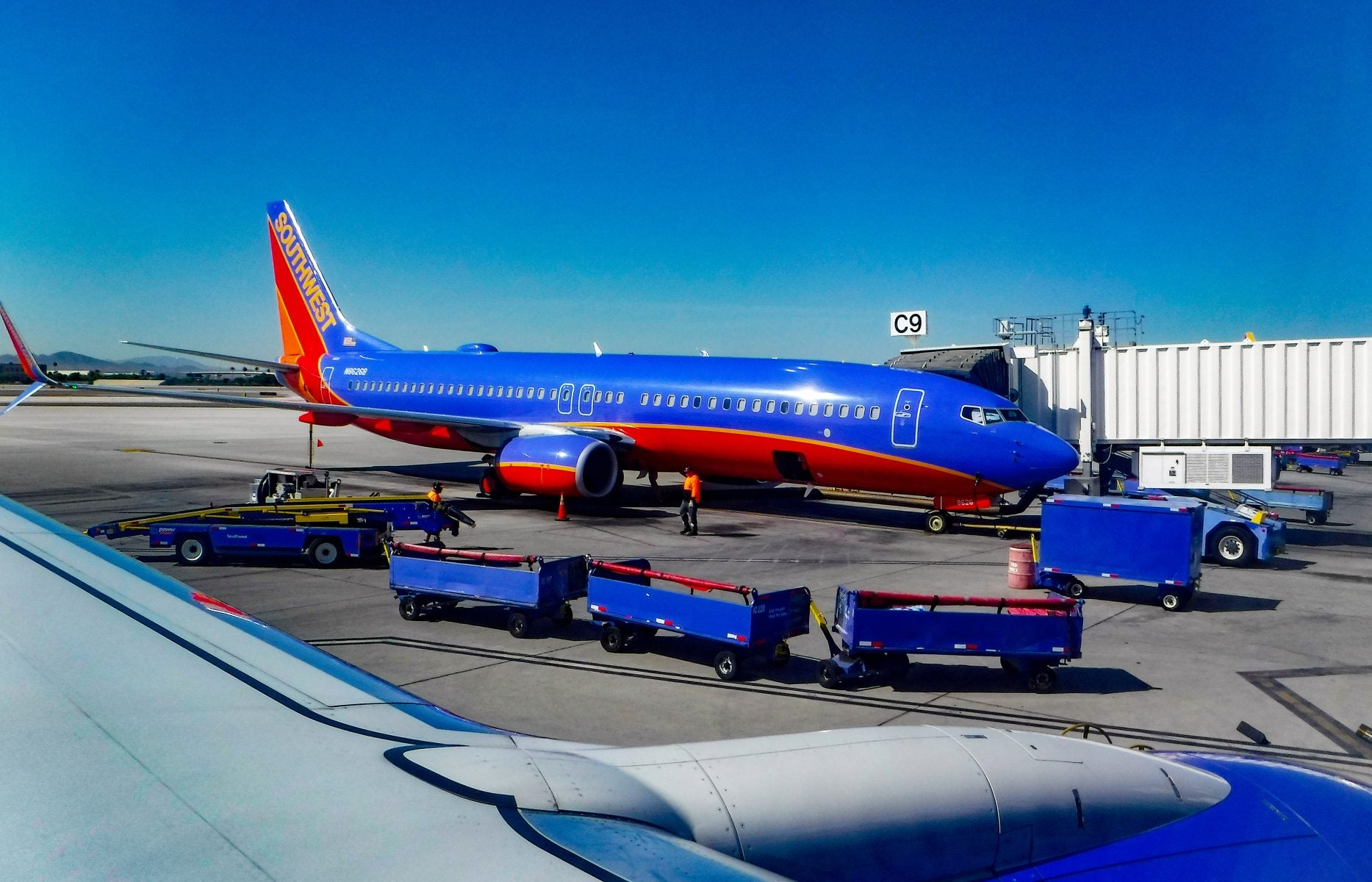 Southwest airplane on tarmac