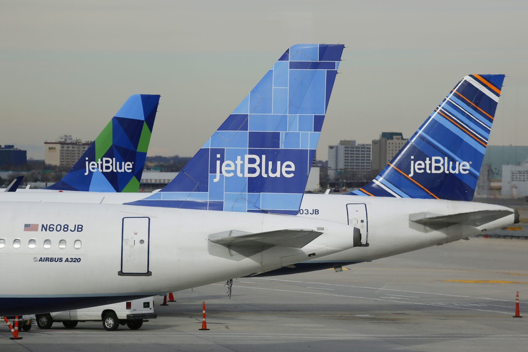 JetBlue Airplanes on tarmac