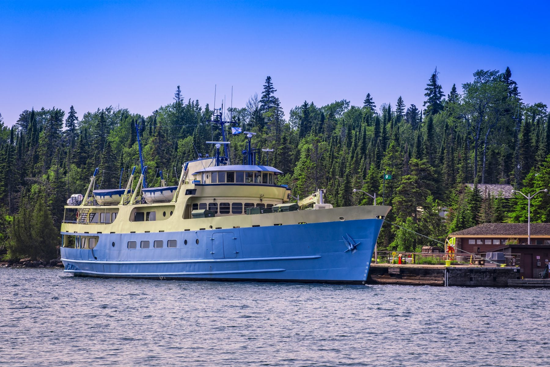 Ferry boat in Isle Royale