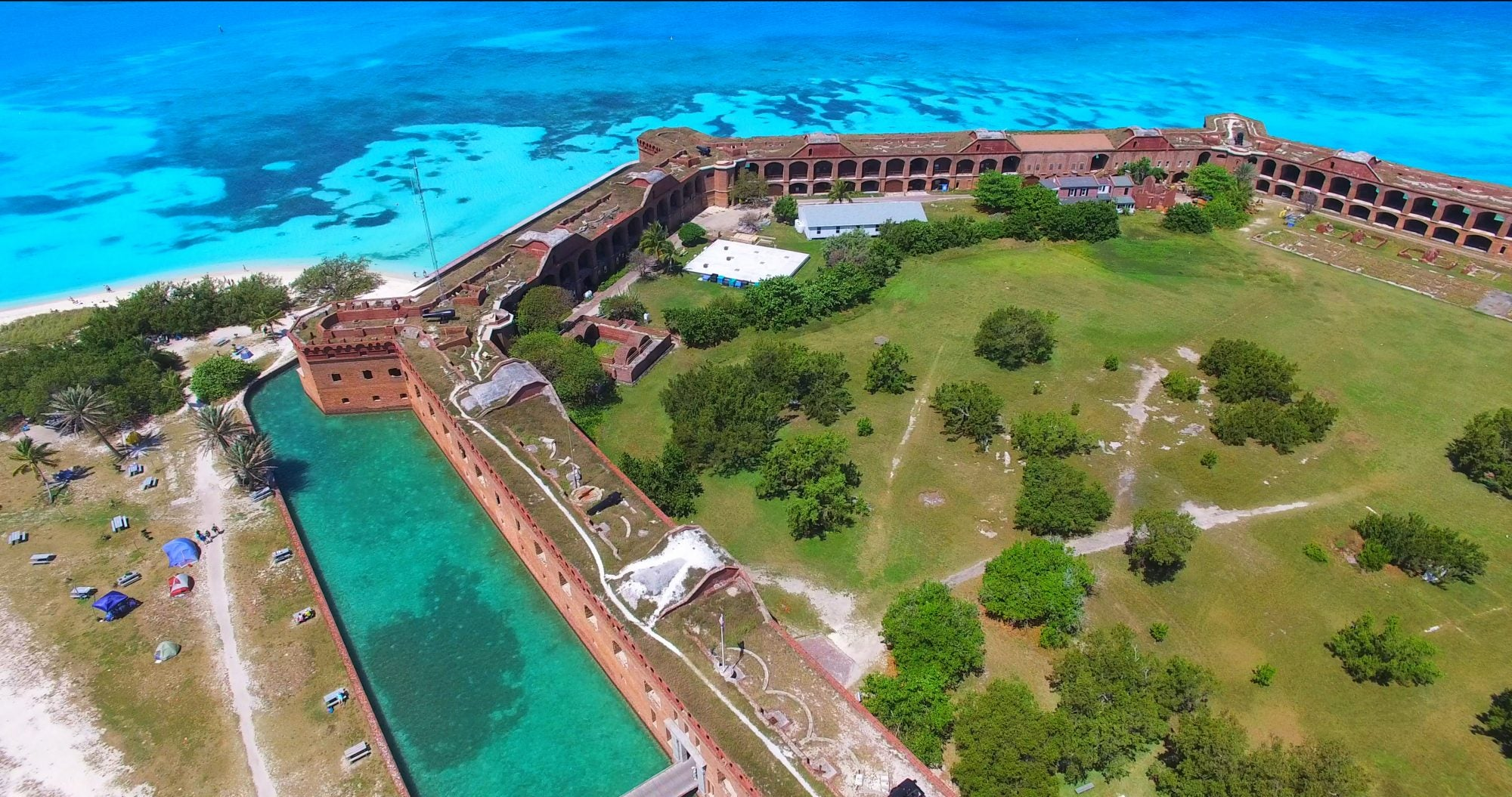 Fort Jefferson aerial view