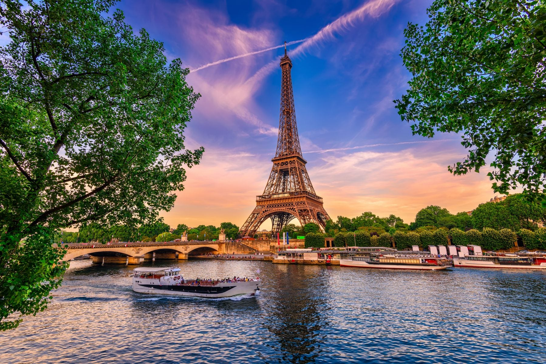 The Eiffel Tower as seen from Across the Seine River